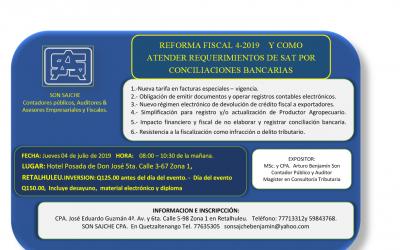 Reforma Fiscal 4-2019 y como atender requerimientos actuales de la SAT